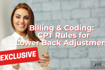 CPT Rules for Lower Back Adjustment