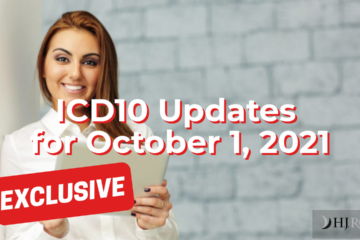 ICD10 Updates for October 1, 2021